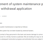 Image for the Tweet beginning: 📌Announcement of system maintenance progress