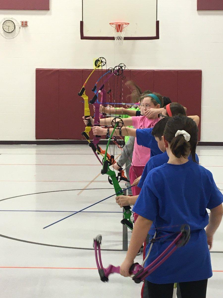 Simpson Archers and Coach Sapper are getting ready for their tournament at Simpson tonight!