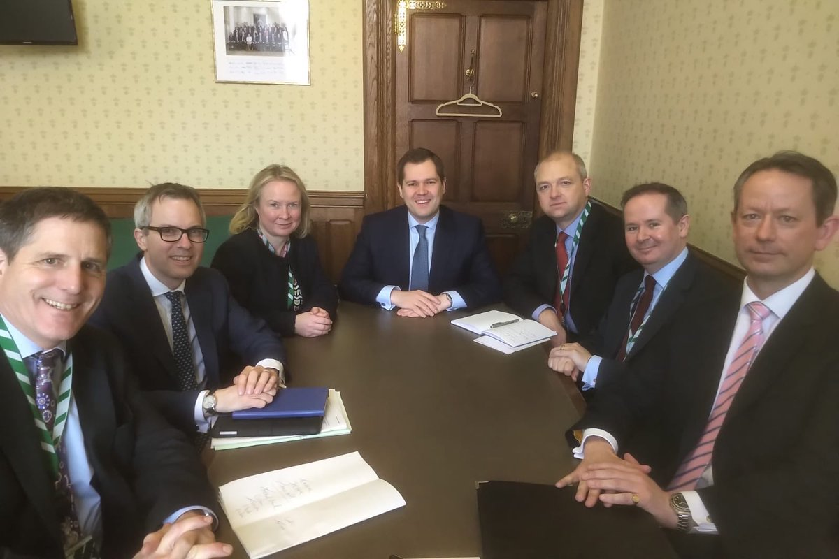 Delighted to meet with another group of great new @Conservatives MPs today in Parliament.  My department @mhclg will help them in supporting their local communities.