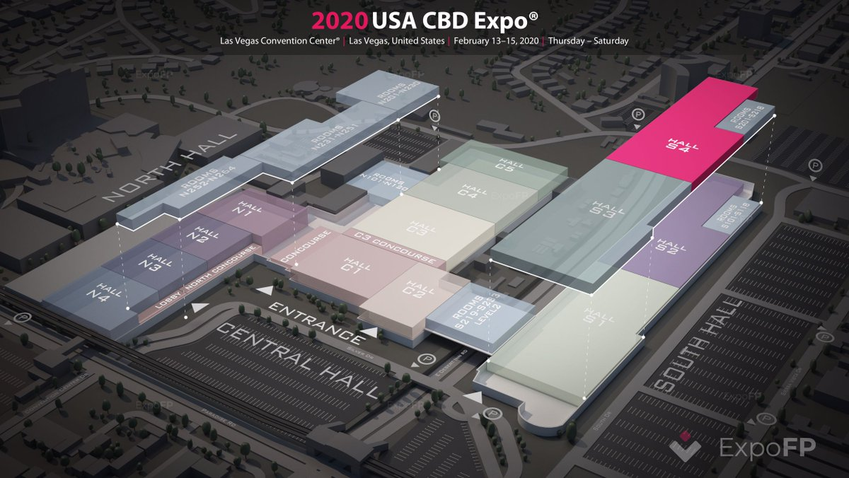 On February 13–15 visit USA CBD Expo 2020 in Las Vegas Convention Center. See the 3D hall plan:  https:// expofp.com/las-vegas-conv ention-center/usa-cbd-expo   …  @usacbdexpo @vegas #usacbdexpo #cbd #yourcbdstore #cannabis #cbdevents <br>http://pic.twitter.com/eHj2mS1oLy