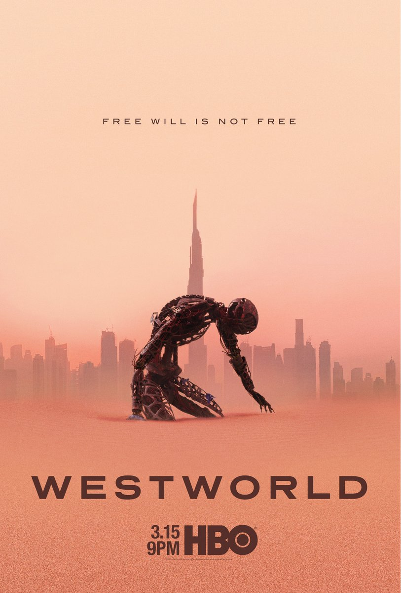 RT @WestworldHBO: FREE WILL IS NOT FREE #Westworld   3.15   @HBO https://t.co/DRXJRFJfMu