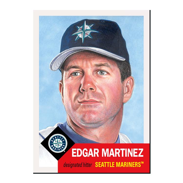 New #ToppsLivingSet cards! Week 101  #285 Edgar Martinez, Seattle Mariners #286 Brad Ziegler, Miami Marlins