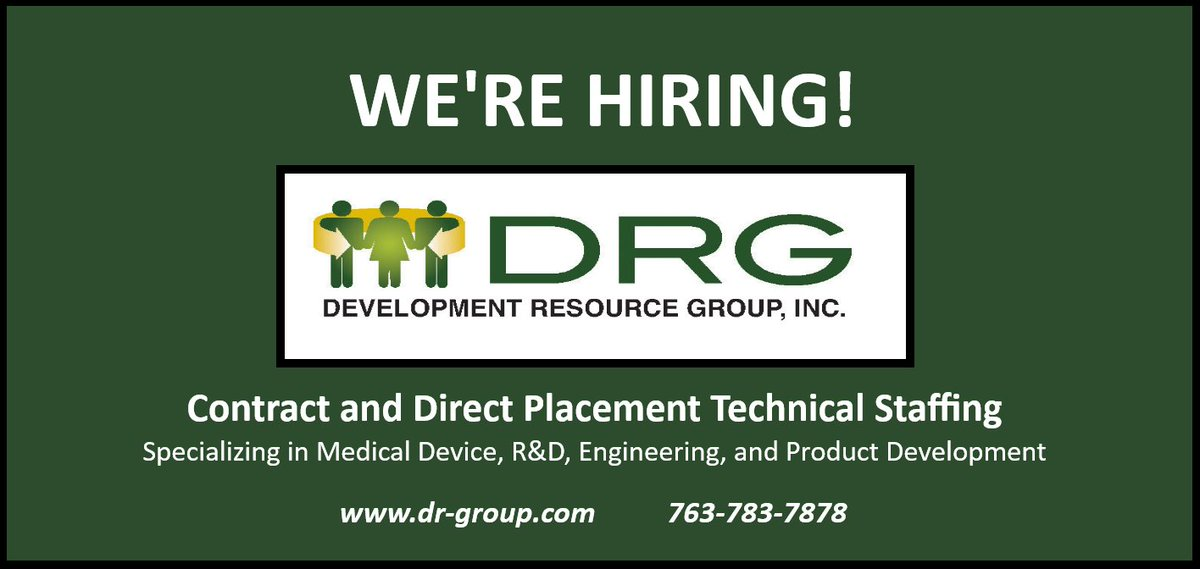 Drg On Twitter Nowhiring Sr Design Assurance Quality Engineer In Stpaul Design Verification Validation Ba With 5 Yrs Visit Our Website For The Full Job Description Apply Today