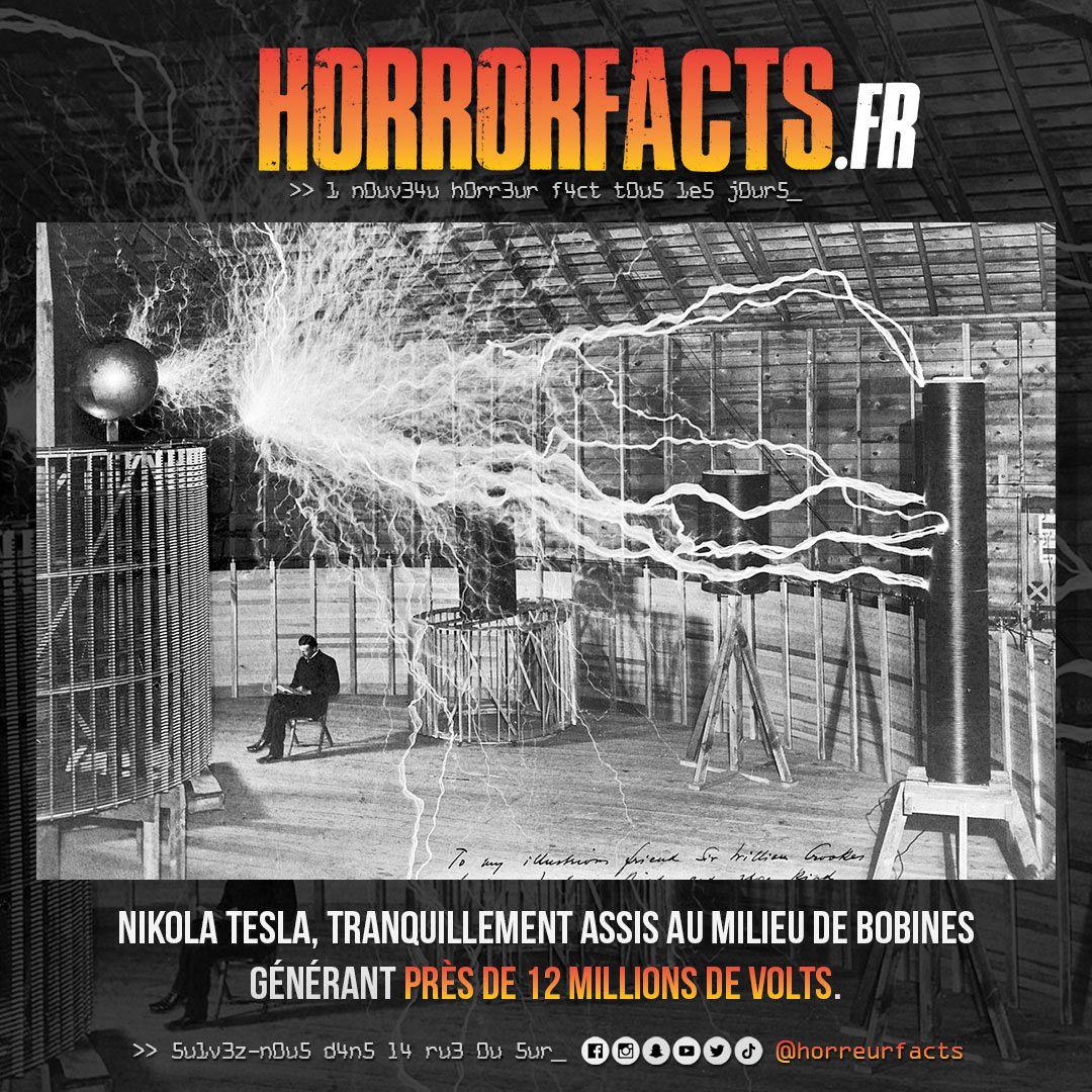 A votre avis, vraie photo ou montage ? #nikolatesla #tesla #bobinetesla #electricite #courant #courtcircuit #electrocution #faraday #cagedefaraday #volts #kw #inventeur #invention #horreur #horreurs #horrorfact #horrorfacts #horreurfacts #horreurfact #filmdhorreur pic.twitter.com/vmkhF76HYF