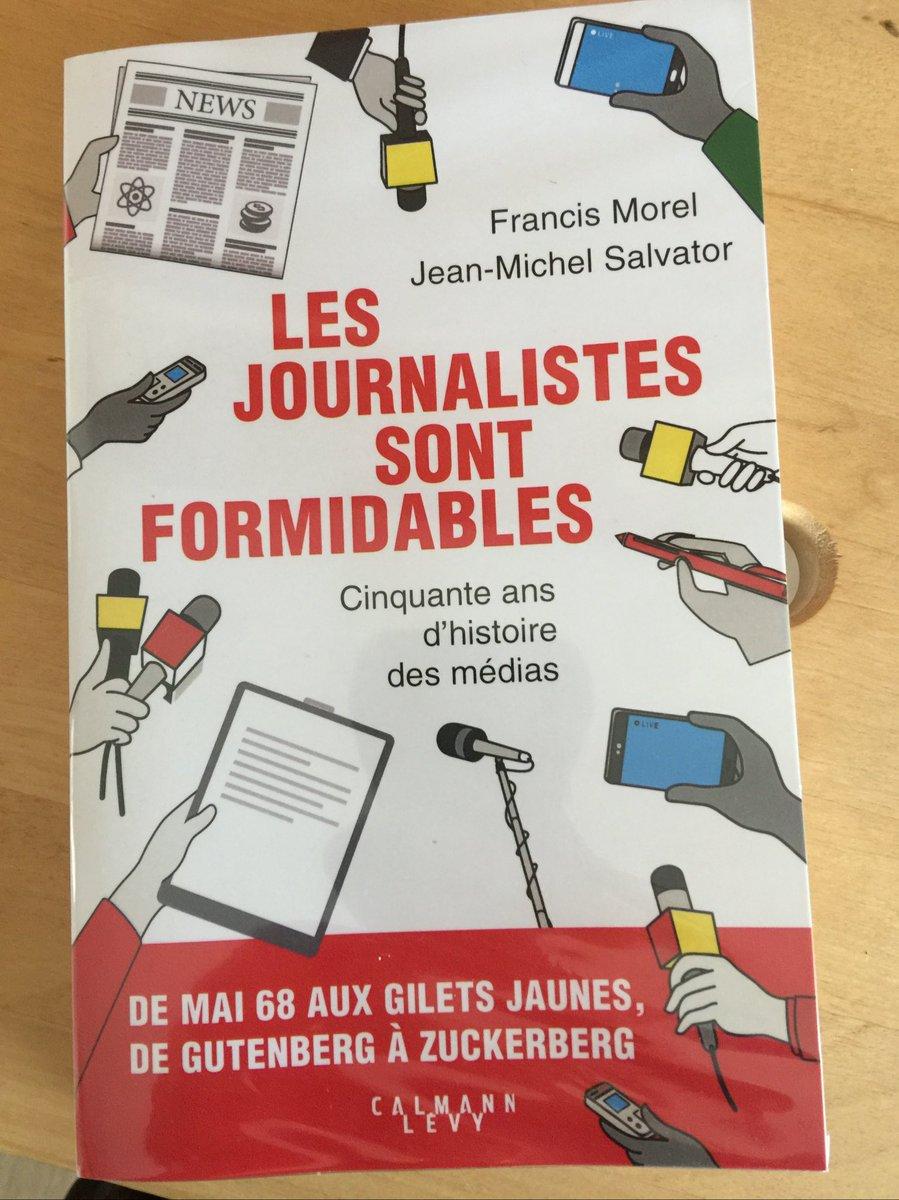 Amis journalistes, C'est l'heure de l'auto congratulation. Je viens de commencer la lecture de ce livre écrit par Francis Morel et J-M Salvator....à mettre dans toutes les mains. #BeProudofYourself pic.twitter.com/t6y2OJa9bK