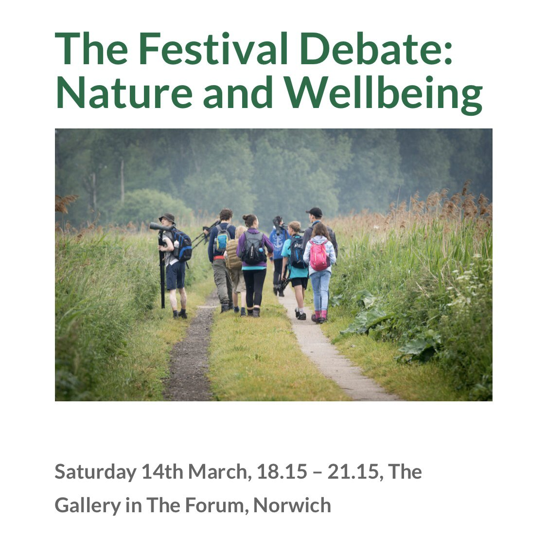 In just over a month, I'll be talking health, wellbeing and nature at @NFOfNature with @patrick_barkham @anitasethi @CaoimheBennett and Joe Harkness. Tickets here >> norfolkfestivalofnature.co.uk/events/the-fes… 🌱🌺🐬🦊🐝
