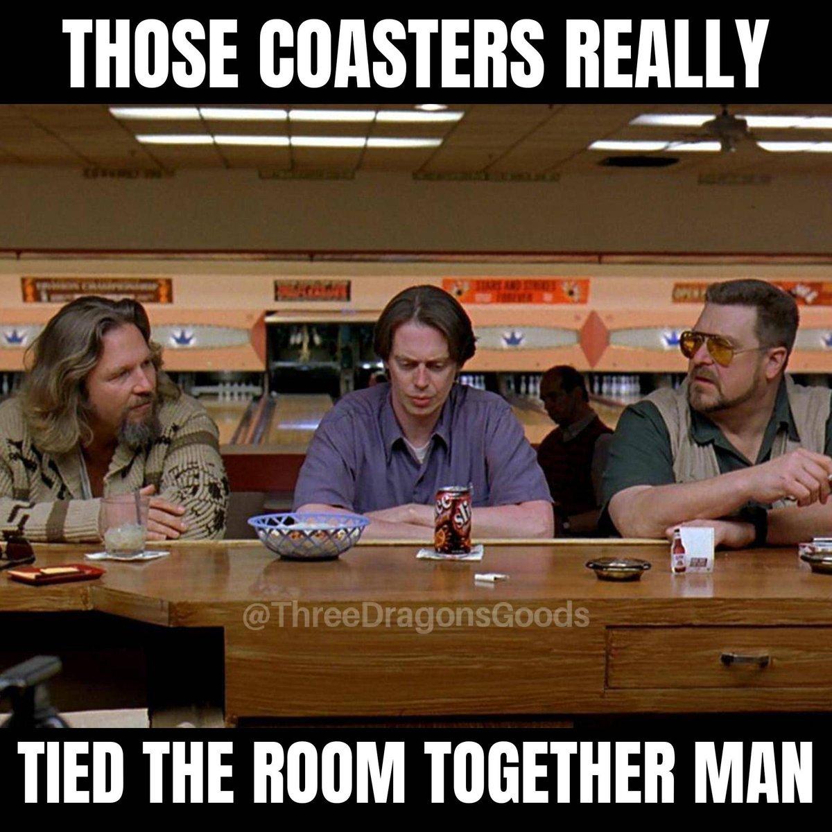For every room!  http://ow.ly/R26r30qhaf6 #ThreeDragonsGoods #Etsy #EtsyShop #EtsySeller #Shopping #Decor #coasters #coasterset #drinkcoasters #meme #memes #memesdaily #durable #useacoaster #protectyourtable #TheDude #TheBigLebowski #JeffBridges #JohnGoodman #SteveBuscemipic.twitter.com/h05odqiHUx