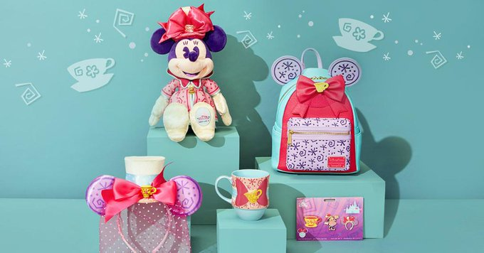 A preview of the March collection for Minnie Mouse: The Main Attraction. The collection features Mad Tea Party.