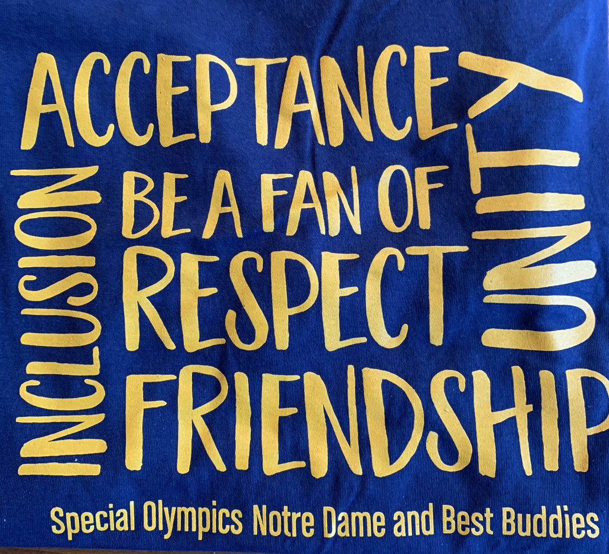 Thanks for the shirt @NotreDame special olympics! ☘️❤️