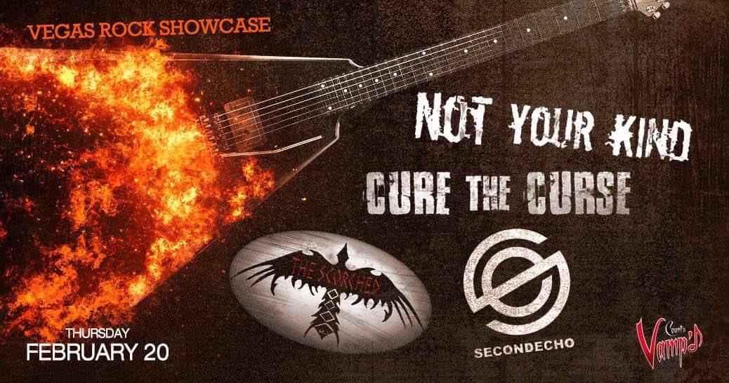 Next Thursday, 2/20/20....  @secondechomusic returns to:  @VampdVegas  6750 W Sahara #LasVegas, #NV  W / @TheScorched - #CureTheCurse & #NotYourKind   Doors at 7:30PM NO COVER :)  #Southern #Nevada #LiveMusic #Live #LocalMusicScene #rockmusic #newmusic  #rockband #musiclove https://t.co/7mT3KwtIf6
