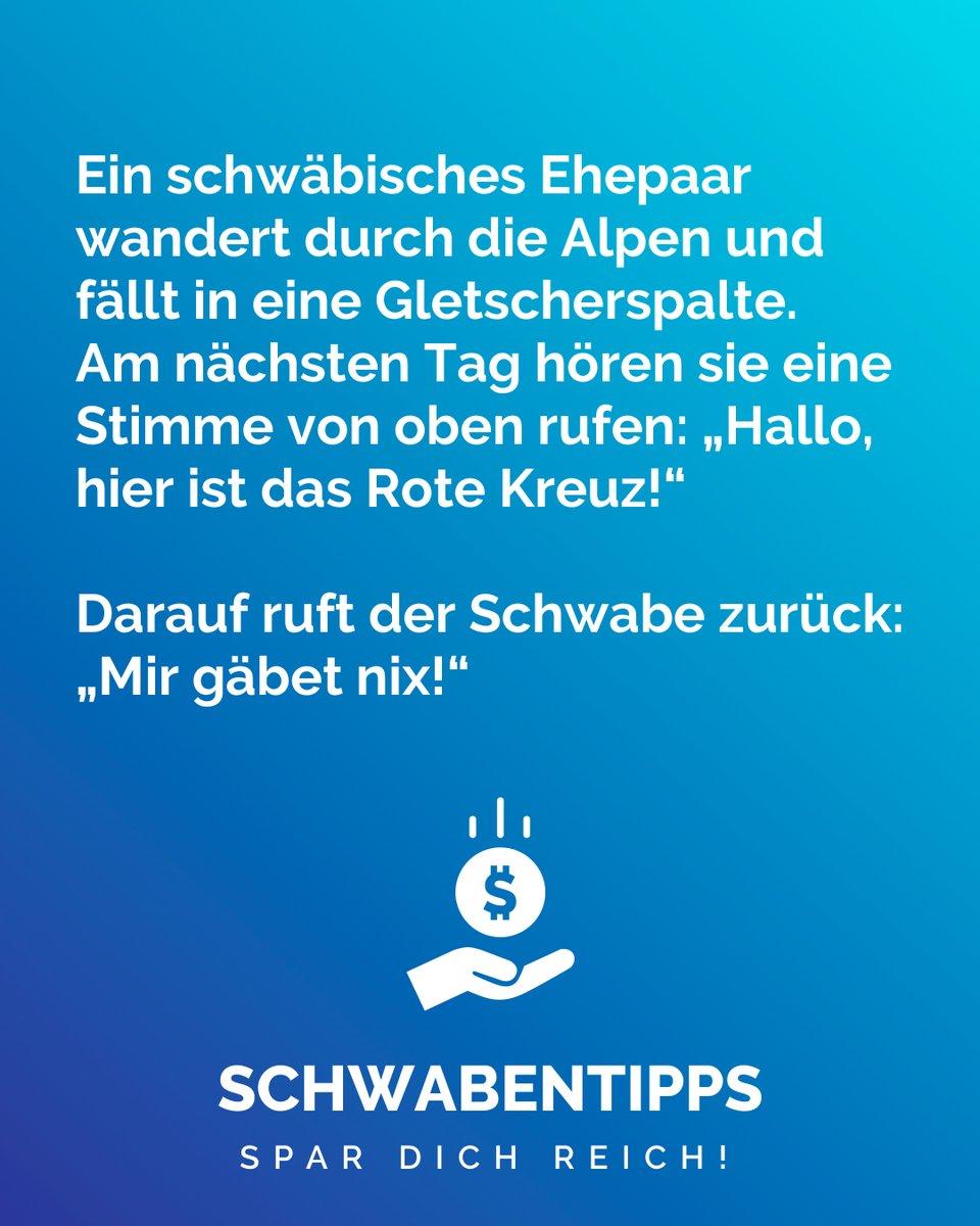 Für mehr folge @schwabentipps_   Schicke uns deine kreativsten Schwabentipps als DM!   #schwabentipps #schwabentipp #spardichreich #sparen #jodel #jodeldeutschland #sparsam #schwabe #geizkragen #sparfuchs #spartipps #spartipp #witzig #bestofjodel #sprüche #spruchpic.twitter.com/oLr12z28Lo