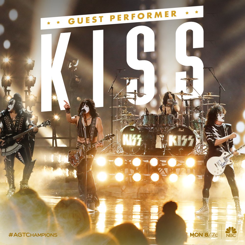 JUST ANNOUNCED: KISS will be the Guest Performer on @AGT on February 17! Tune in as the episode + performance air on Monday, Feb 17 from 8-10pm ET/PT 🤘👅