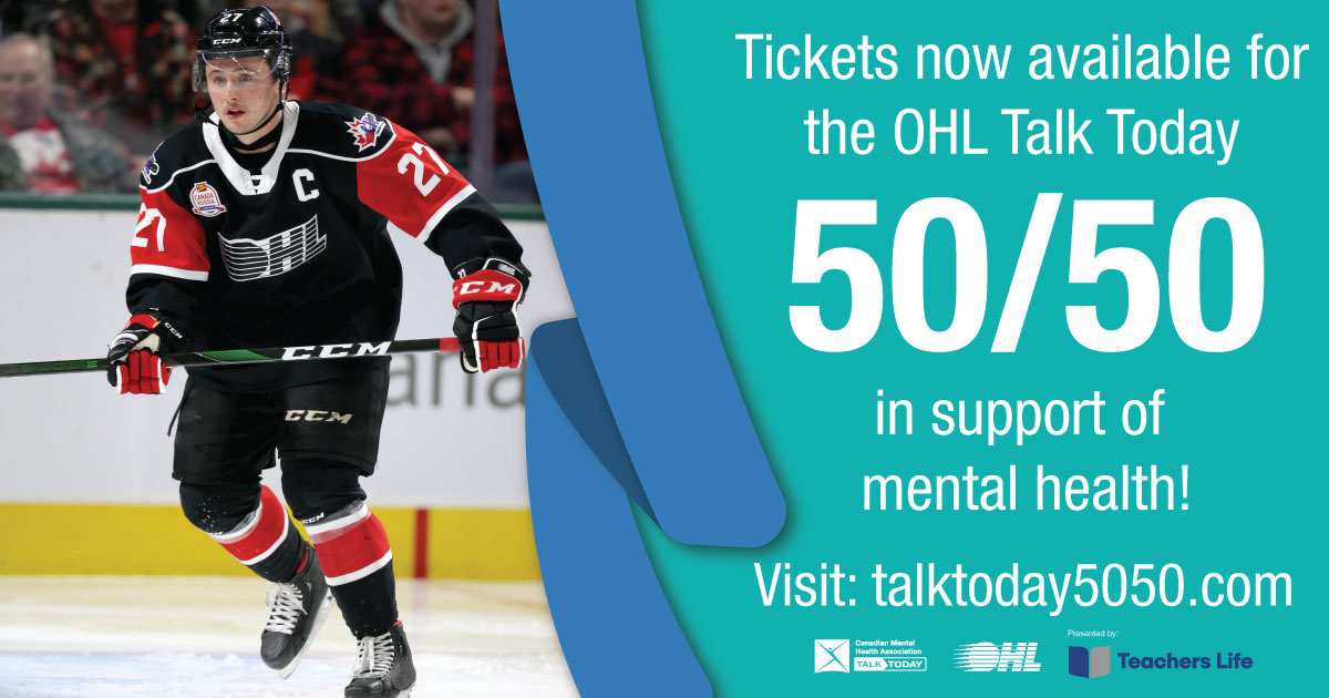 test Twitter Media - Pleased to share that @CMHAOntario and @OHLHockey have teamed up for a 50/50 raffle in support of mental health! Visit https://t.co/Uqxht3ClPz for more info. #TalkToday https://t.co/sHubBAQ52o