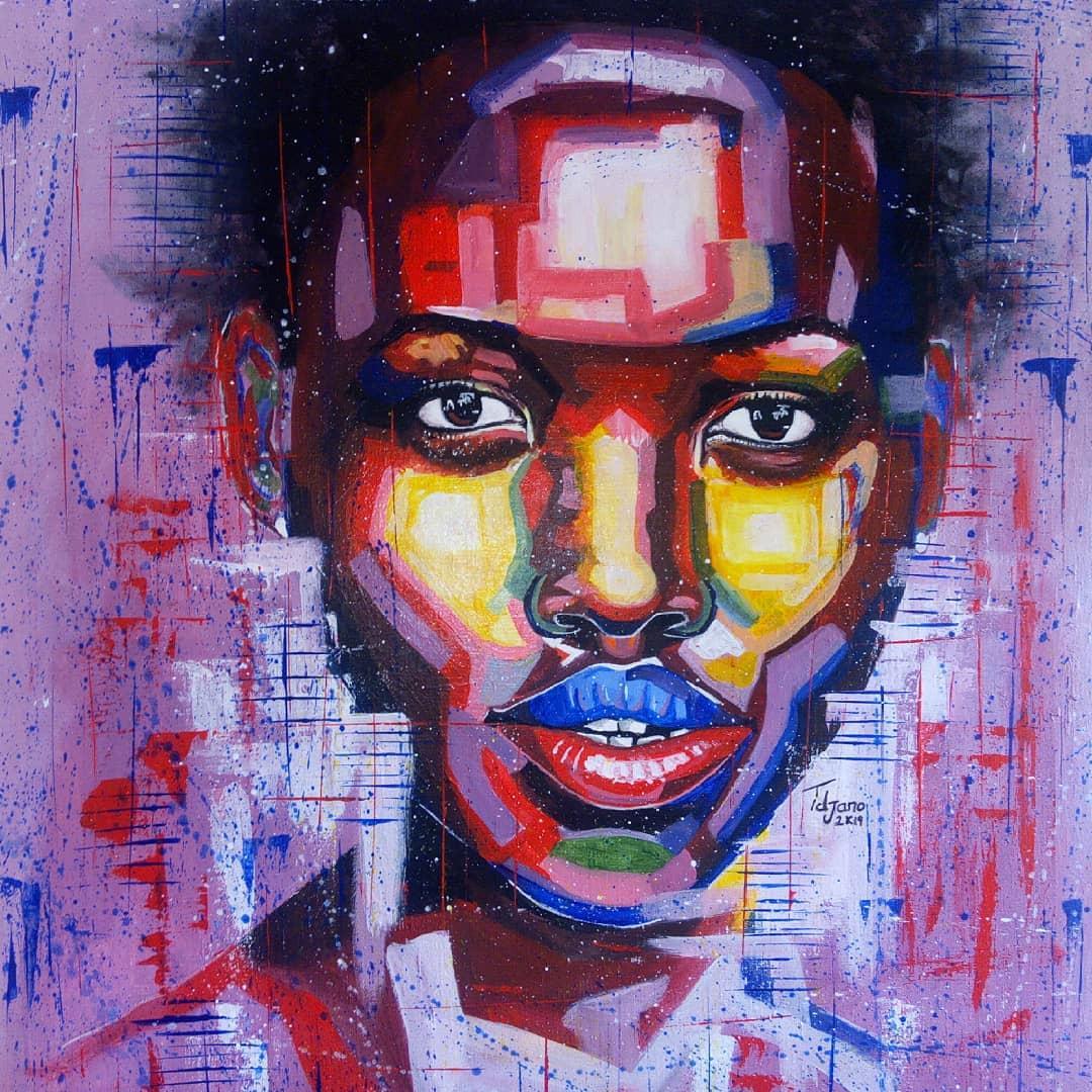 My latest painting for @Lupita_Nyongo
