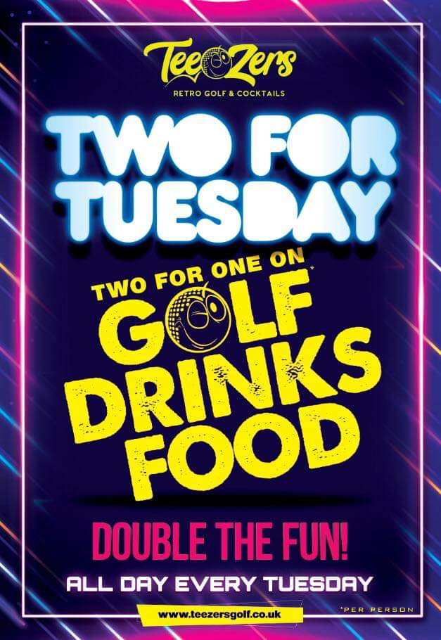 Launching Tuesday 3rd March #TwoForTuesday #Teezers #Coventry #Doublethefun