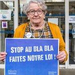 Catherine, Marie Lou et Claudine,  bénévoles, contribuent à lutter contre l'isolement des #personnesAgees. Elles aimeraient bien une mobilisation nationale en faveur du #bénévolat auprès des #seniors.   ❗Stop au bla bla, #FaitesNotreLoi @agnesbuzyn #vieillissement #ehpad