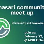 Image for the Tweet beginning: #Masari community meetings are held