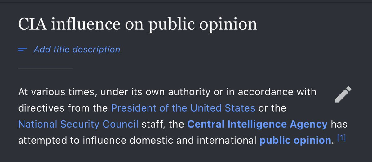 CIA influence on public opinion