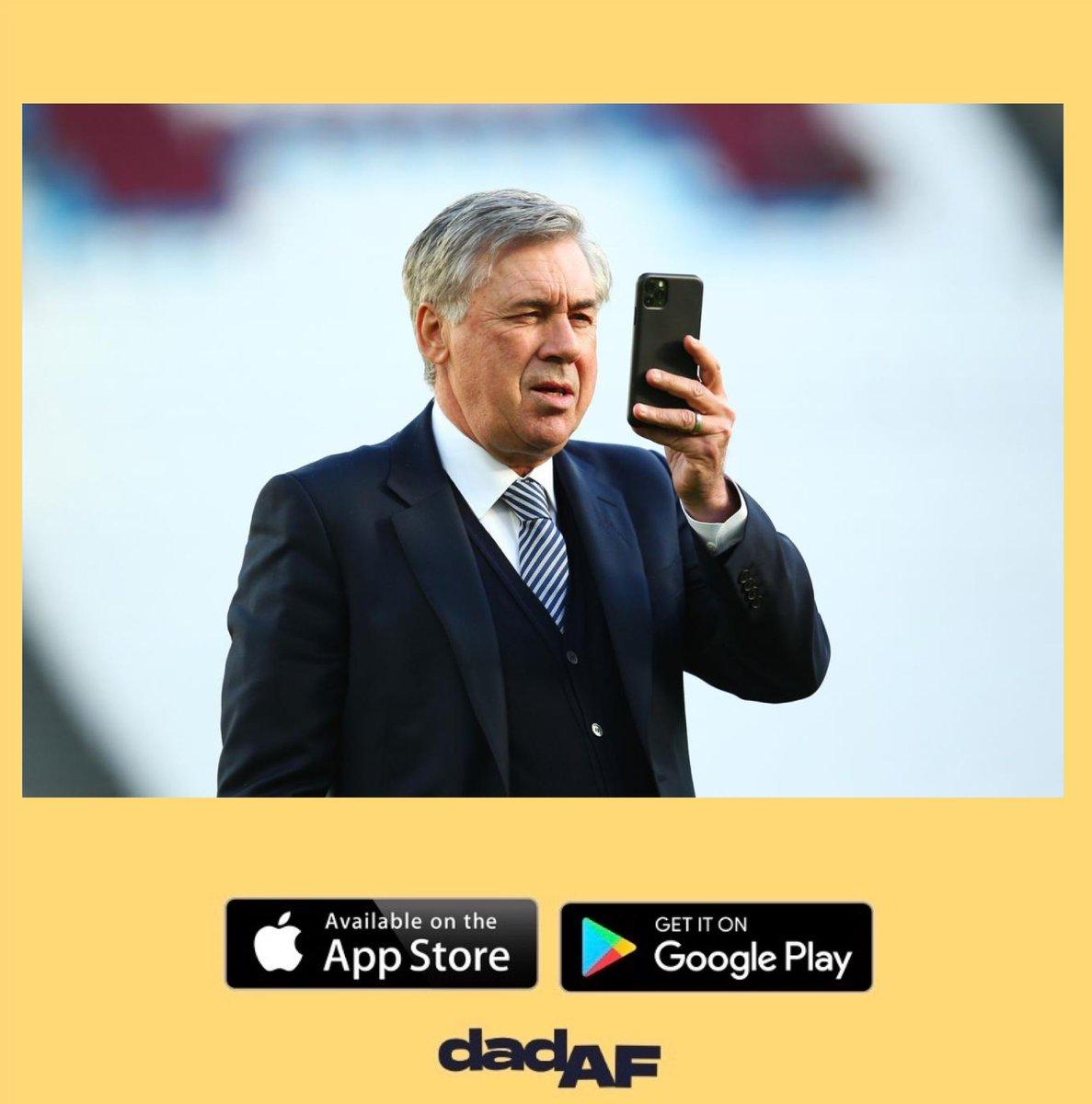 Even Carlo is on the Dad AF app • • • #dad #dadaf #dadlife #dads #carloancelotti #everton #football #manager #footballcoach #dadcommunity #dadnetwork #footballcommunity #footballdads #footballkids #parenting #parentingapppic.twitter.com/lO61xJvluy
