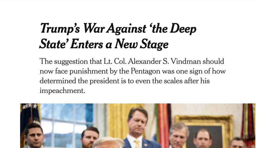 """Seriously? """"Even the scales""""?  https://www.nytimes.com/2020/02/11/us/politics/trump-vindman.html…"""