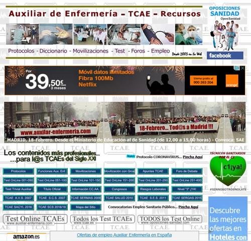 www.auxiliar-enfermeria.com apoya la Manifestación en Madrid del próximo 18 de Febrero contra el borrador del Real Decreto de nueva titulación de Técnicos en Cuidados Sanitarios... EQmqwRFW4AMwtKf?format=jpg&name=small