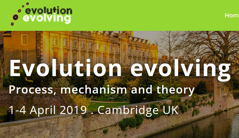 #DarwinDay Current debates over evolutionary theorizing are all in agreement with Darwin's theoretical breakthroughs. Our 2019 #EvoEvolving conference highlights the evolution of evobio itself while examining the evolution of evo processes (#evolvability).