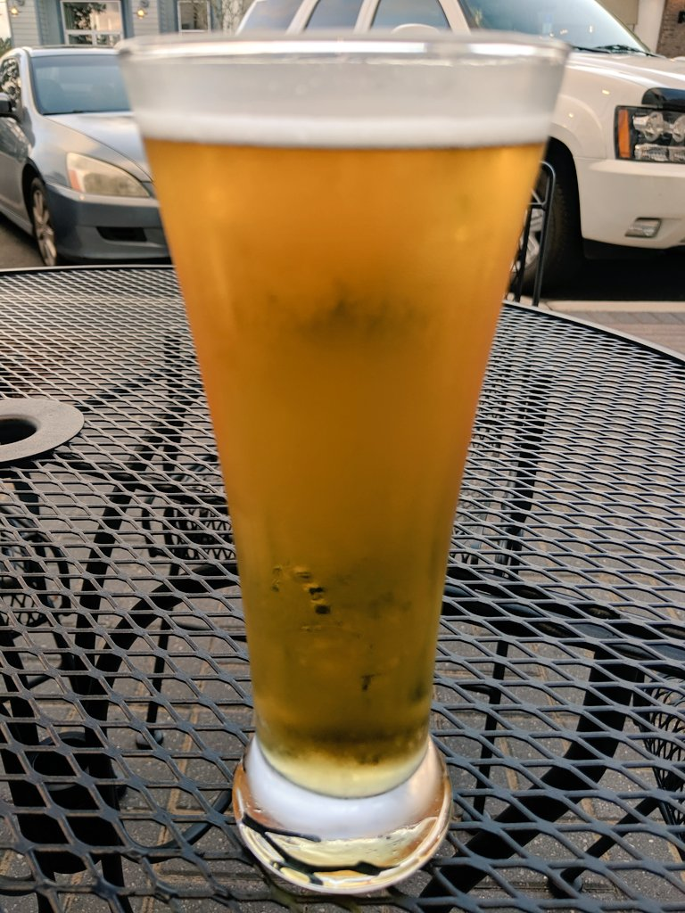 Enjoying a Delta Pils outside McGowan's on a perfect winter evening. #IHeartTally #IEarnedThis