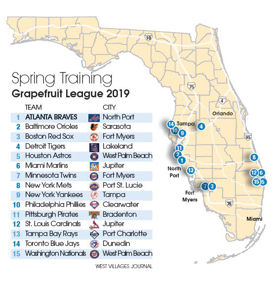 spring training map florida David O Brien On Twitter Anyone Who Doesn T Understand Why The
