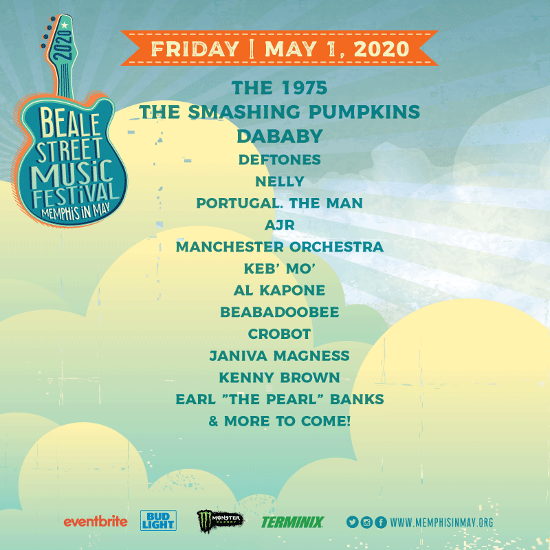 The Beale Street Music Festival lineup for Friday