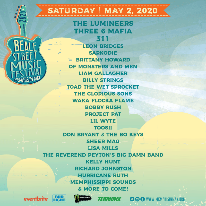 The Beale Street Music Festival lineup for Saturday