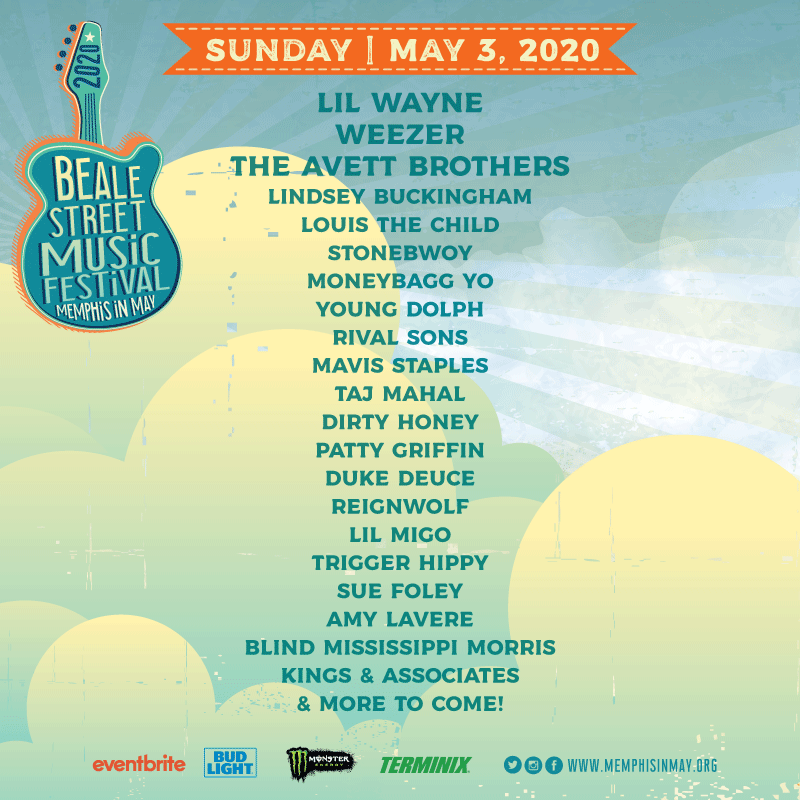 The Beale Street Music Festival lineup for Sunday