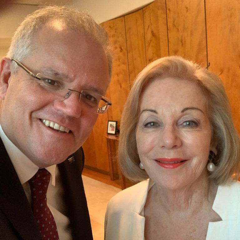 Great to catch up with @ABCaustralia Chair @ItaButtrose this morning. Joined also by Minister @PaulFletcherMP and ABC MD David Anderson. Rural and regional services were a key focus of our discussion. So pleased Ita took on this job.