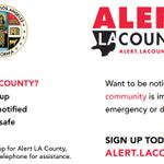 Image for the Tweet beginning: #ReadyLACountyPreparednessTip: Stay Informed with Alert
