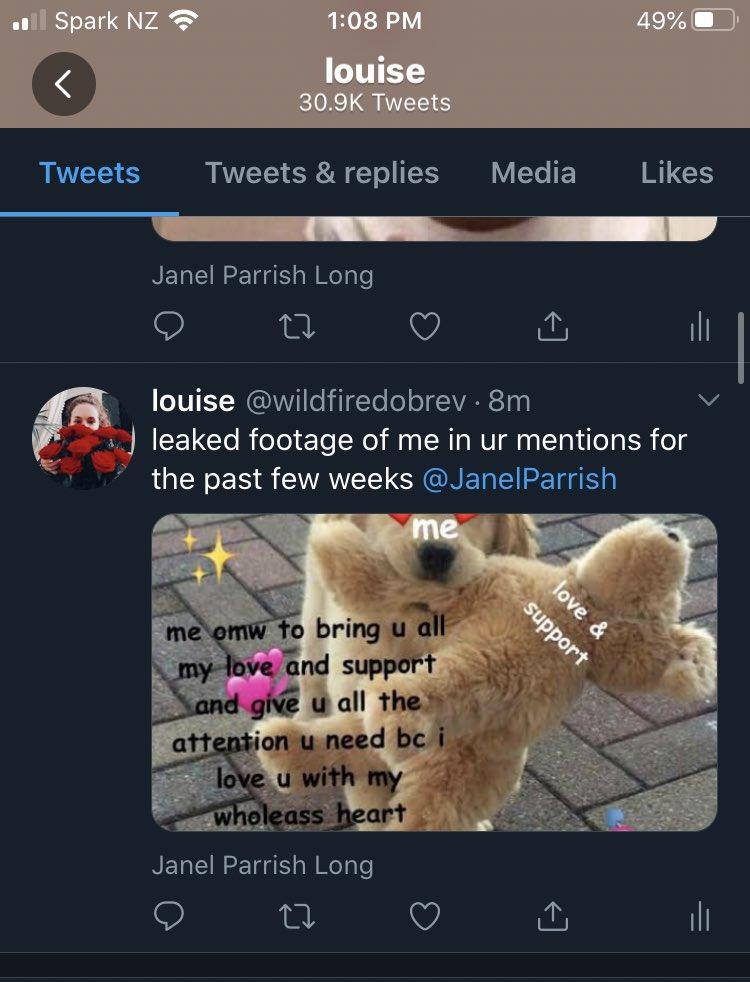 do u think i tweet about u a little too much? @JanelParrish