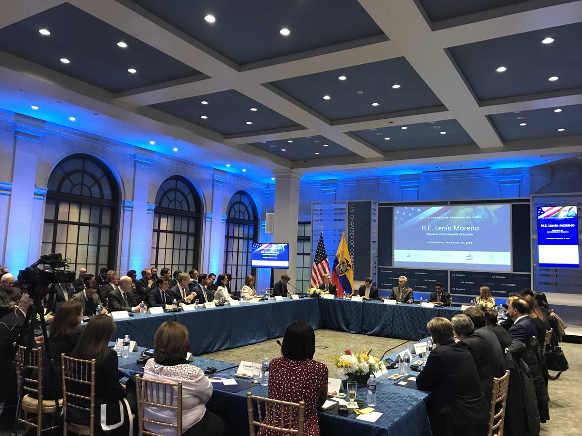 test Twitter Media - President of Ecuador @Lenin talks to the private sector, @amchamec, and @amchamgye about opportunities in #Ecuador https://t.co/XuqSO3XtyO
