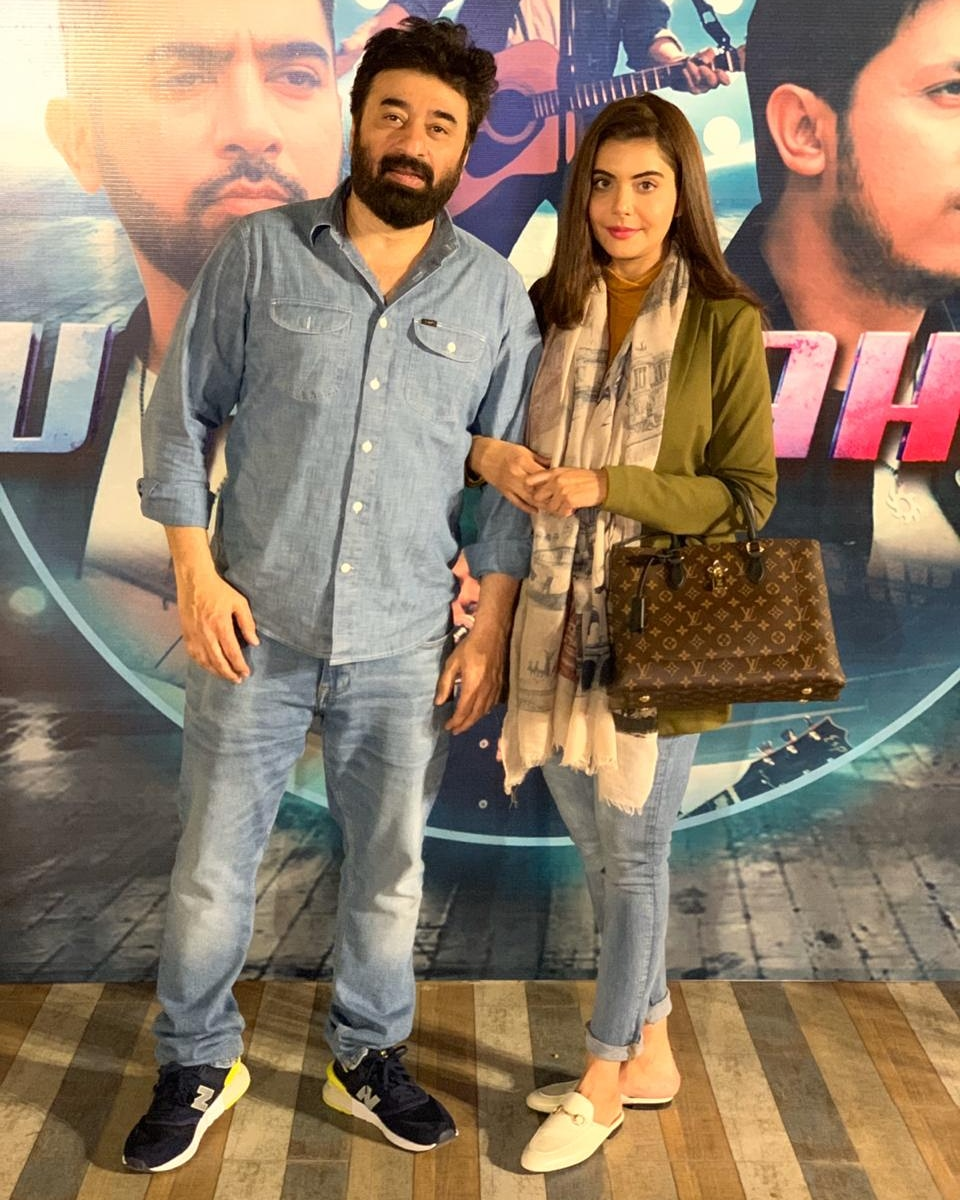 #NidaYasir and #YasirNawaz at the launch of video song #TuHaiKahan by Kohi bandpic.twitter.com/rhauYdMx5U