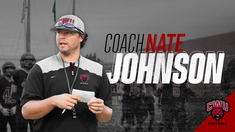 Wildcat Nation please welcome new Defensive Coordinator Nate Johnson (@coachjohnsSFA) back to Ellensburg and CWU!! #Crim20nReign