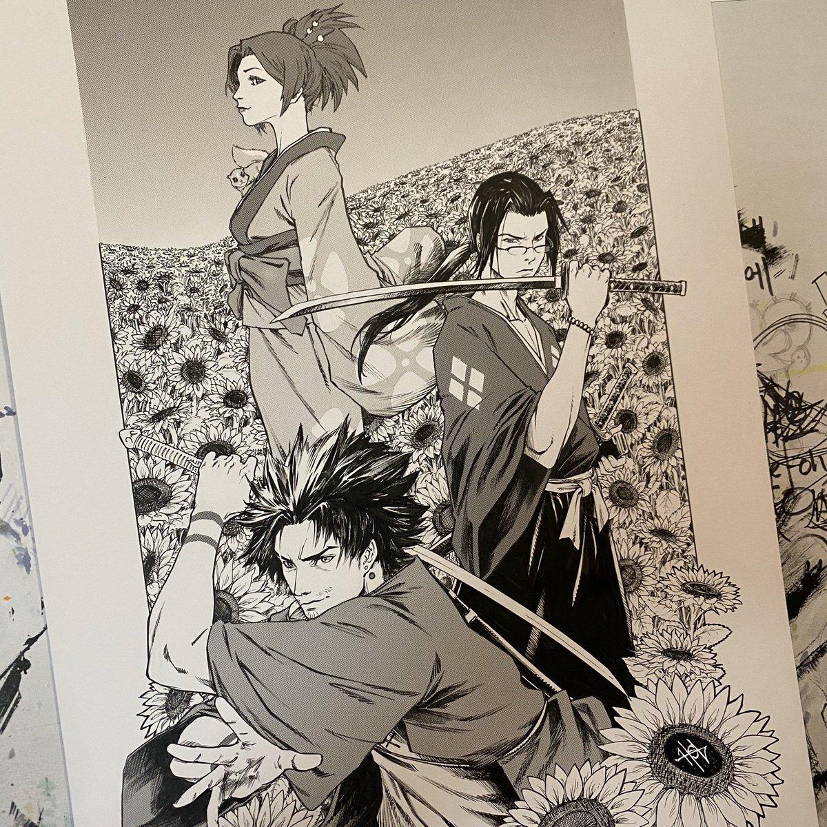 Samurai Champloo commission using screentones! #samuraichamploo #samurai #champloo #mugen #jin #fuu #nujabes #sunflower #artpic.twitter.com/ouPpXGsdjP