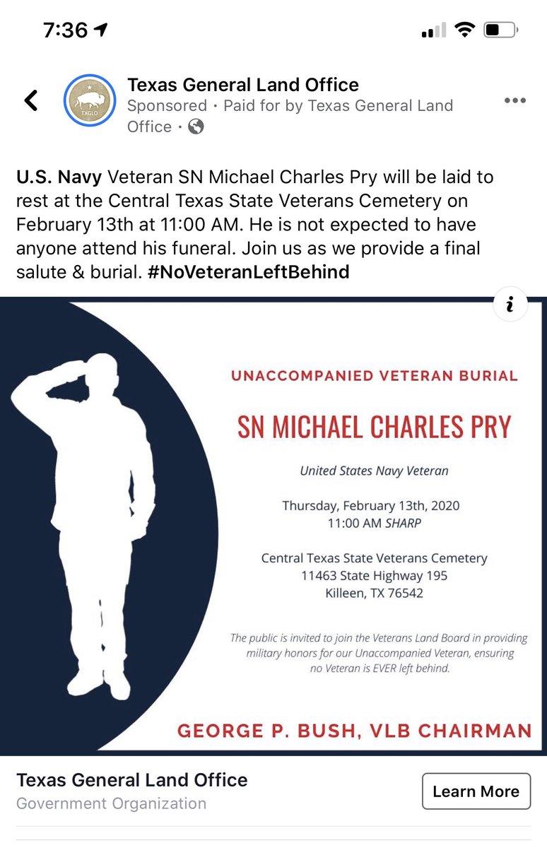 Show your support. Don't let him go like this. #militarysupport #veteransupport #militaryfuneral #killeenTX #funeral @POTUS @tedcruzpic.twitter.com/zdv8UbEPQR