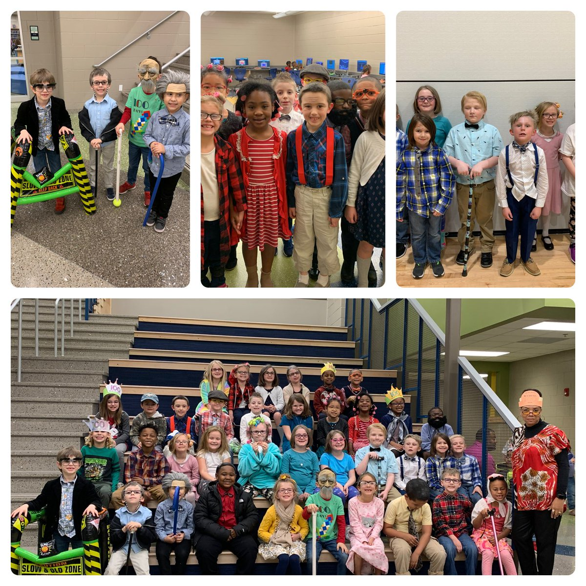 Celebrating 100 days of school @EaglesFbes The students and staff did an amazing job! #Spsk12proud