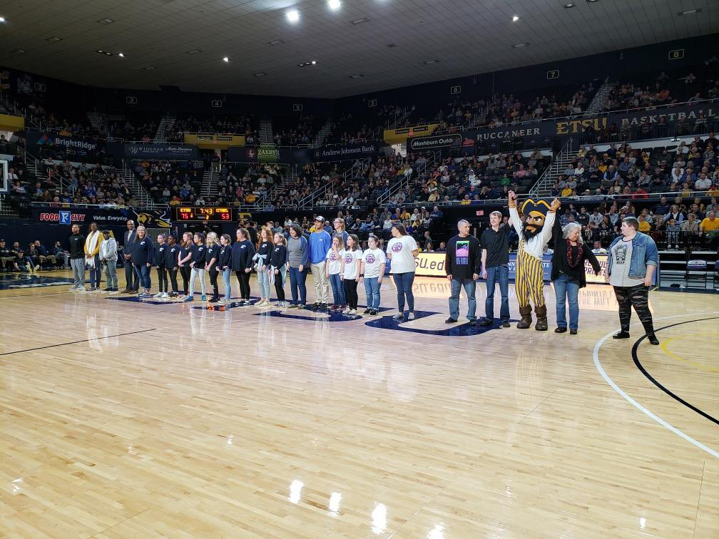 #ETSUelevates winning teams were recognized at tonight's @ETSU_MBB game! We're so proud of these groups and their service projects.   There's still time to get your team together for a chance to win a $5K grant for your service project idea. http://etsu.edu/elevates