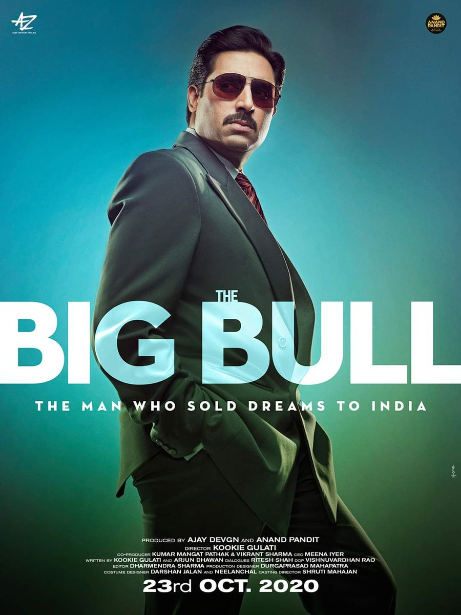 #TheBigBull releases on 23rd October!! Stay Tuned  #AbhishekBachchan #IleanaDcruz #SohumShah #NikitaDutta #AnandPandit #MotionPictures #KookieGulati #KumarMangat #ADFFilms #MeenaIyer #VikrantSharma #TheBigBullOn23rdOctober