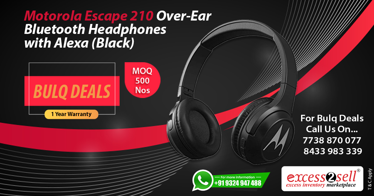 Excess2sell On Twitter Bulk Deal Motorola Escape Bluetooth Headphones 21 Off Https T Co Tvhfebhzly Call Now Or Whatsapp 91 7710021112 91 7738870077 91 8433983339 Wholesalebluetoothheadphone Headphonesinbulk Excess2sell