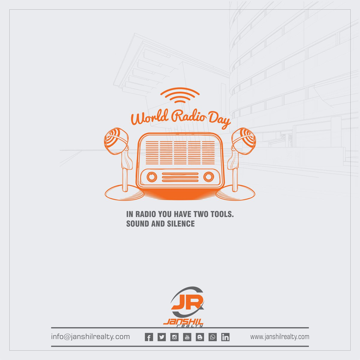In #radio you have two tools. Sound and silence. #worldradioday  #realestate #property #Investment  #propertymanagement #Realtor #janshilrealty #southbopal #bopal #Ahmedabad #realestateforsale #propertymanagment #propertyinvestments #realestateadvice #realestateinvestmentspic.twitter.com/YVkarDoFpo