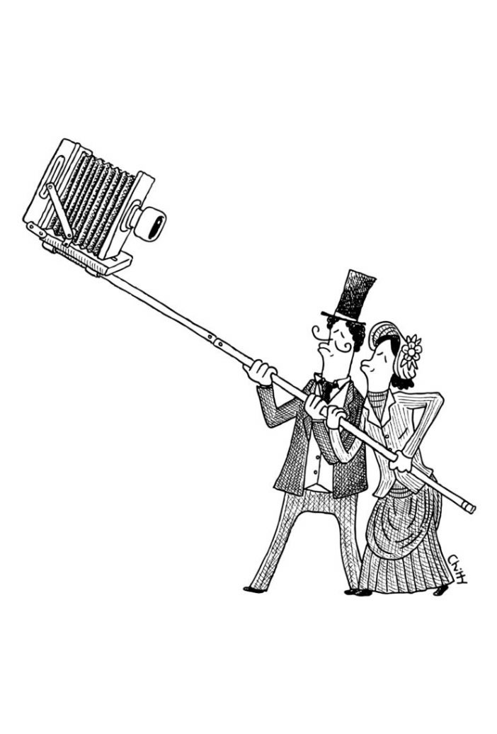 The very first selfie?  A cartoon from The New Yorker https://t.co/Njx00RK3zt https://t.co/17qYLn2QG4
