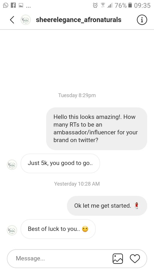Hey Twitter please help me reach 5k RTs to be an ambassador for this cool brand❤