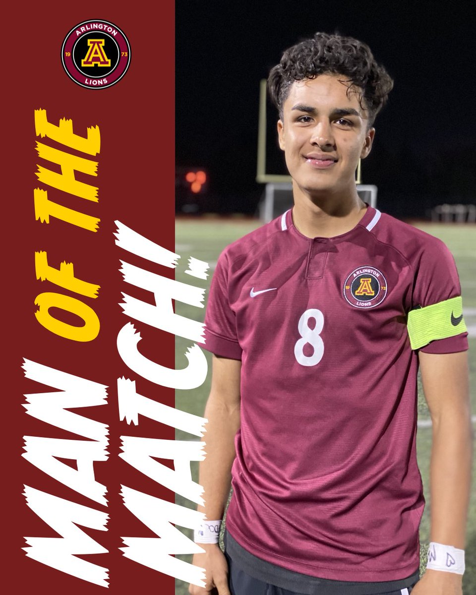 Man of the match to Jorge Velasco who continues to secure the Lions midfield. Well done Jorge!