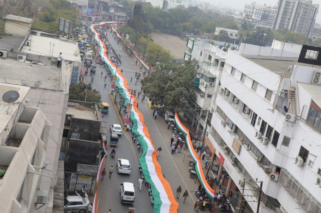 Rupani flags off Tiranga Yatra in support of CAA in home town Rajkot