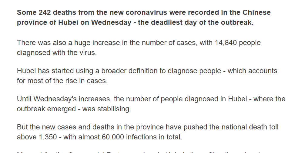 Mohamed A El Erian On Twitter Bbcnews On The Overnight Jump In The Number Of Reported Cases Of Coronavirus Fatalities And Infected Persons While Reportedly Due To A Change In Definition This Casts