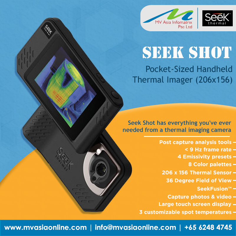 MVASIA introducing you to Seek Shot Series imaging cameras for building professionals.  SEEK SHOT : Pocket-Sized Hand held Thermal Imager (206x156)  Contact us: http://www.mvasiaonline.com   |  info@mvasiaonline.com  | +65 6248 4745  #MVASIA #SeekThermal #SeekShot #Singaporepic.twitter.com/ws4xC5sYBx